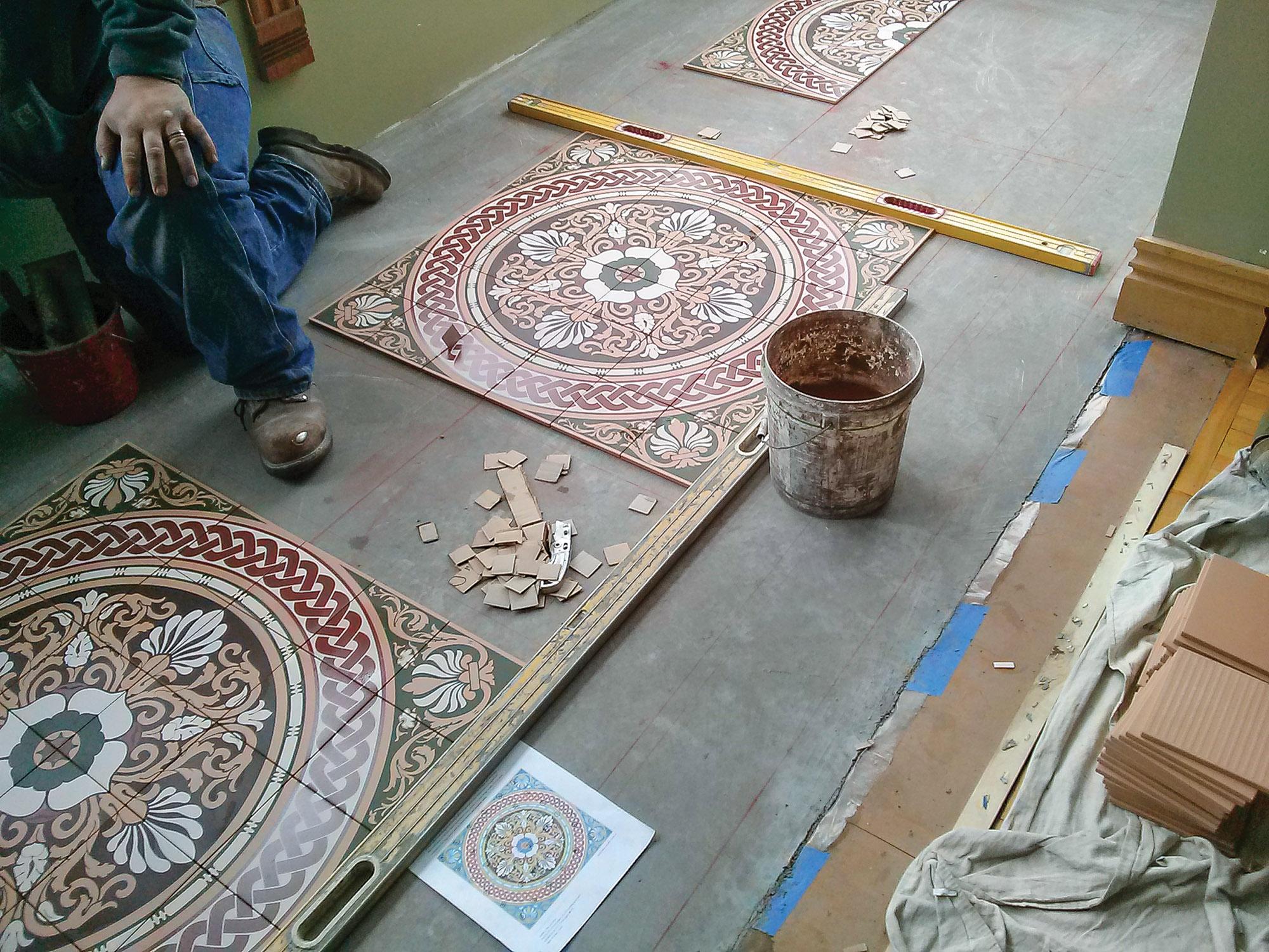 tile floor process
