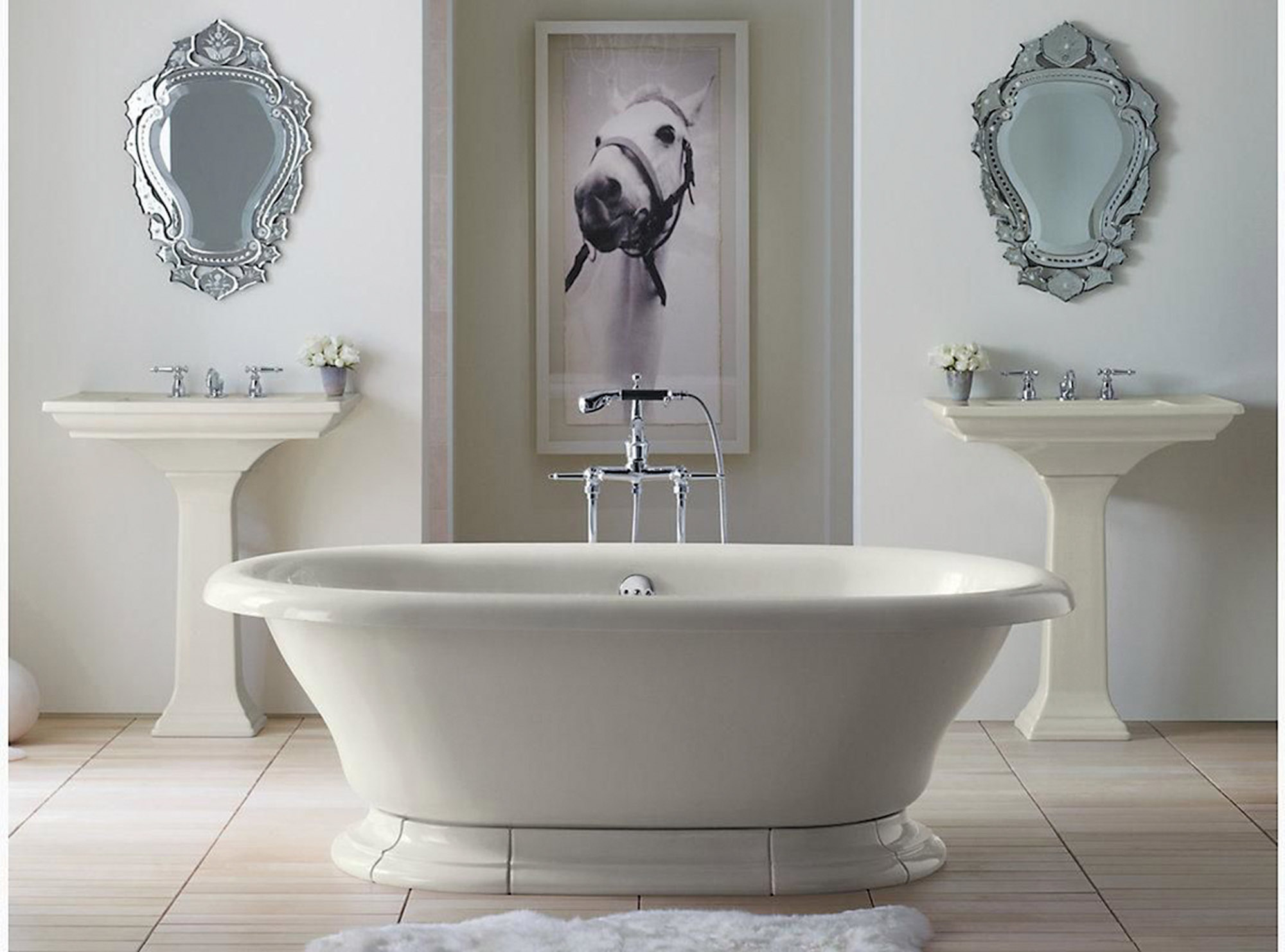 "Kohler's 'Vintage' 72"" x 42"" freestanding cast-iron tub"