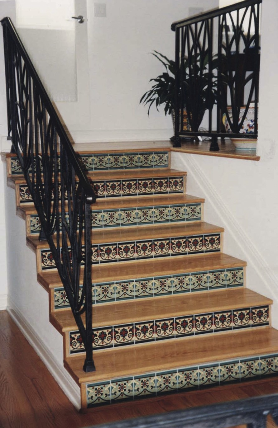 decorative stair tile