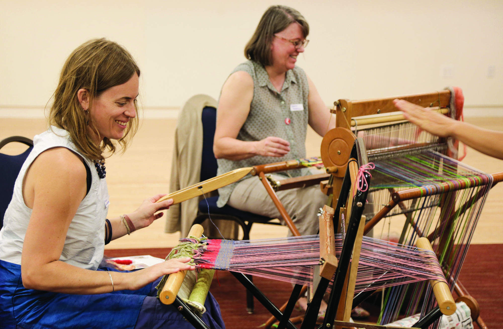 A weaving workshop at the Institute.