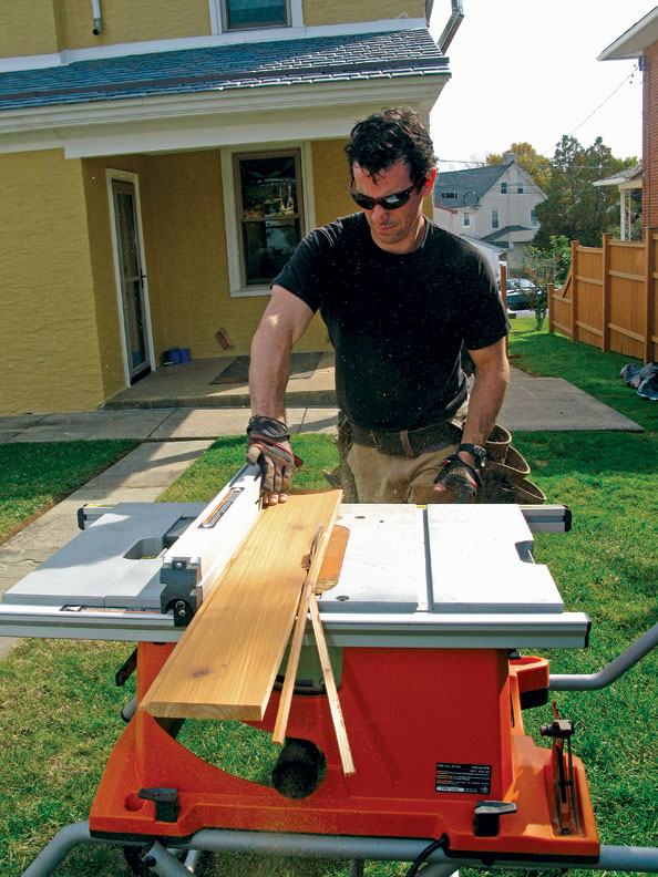Portable table saws are best for ripping boards.