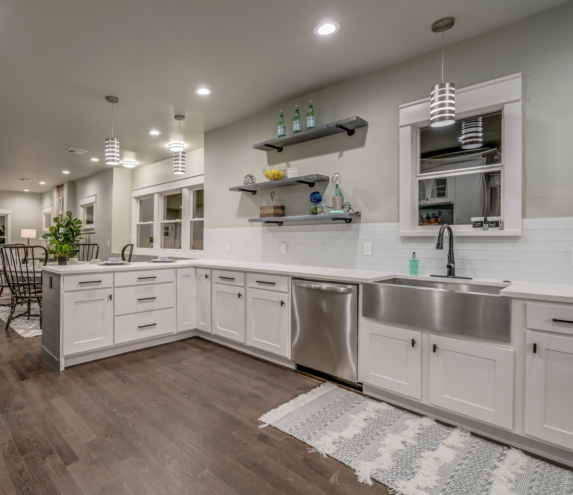 renovated white kitchen cabinets