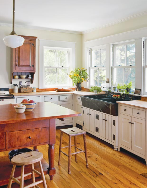 Traditional components create a timeless kitchen.