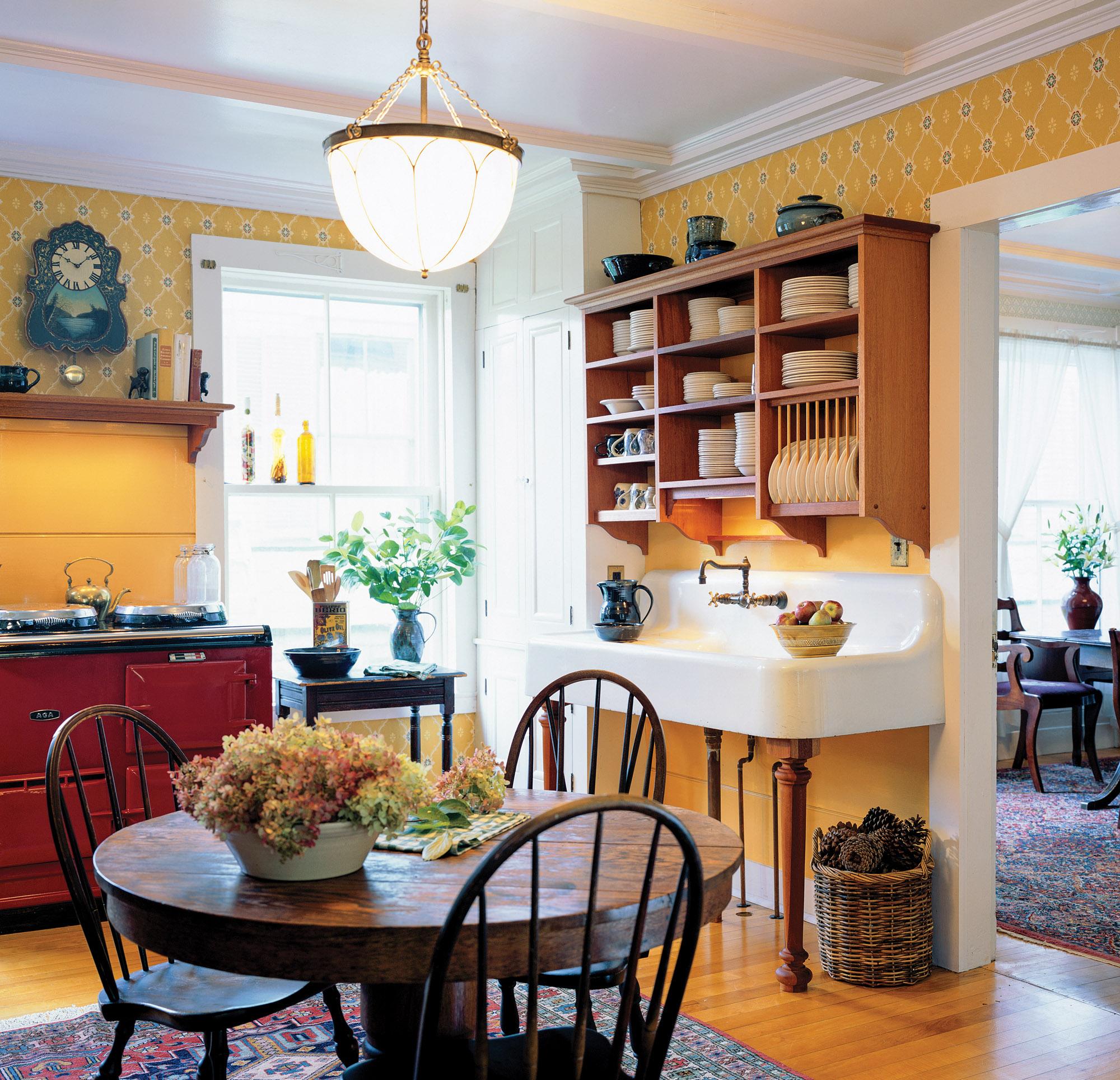 yellow Victorian kitchen