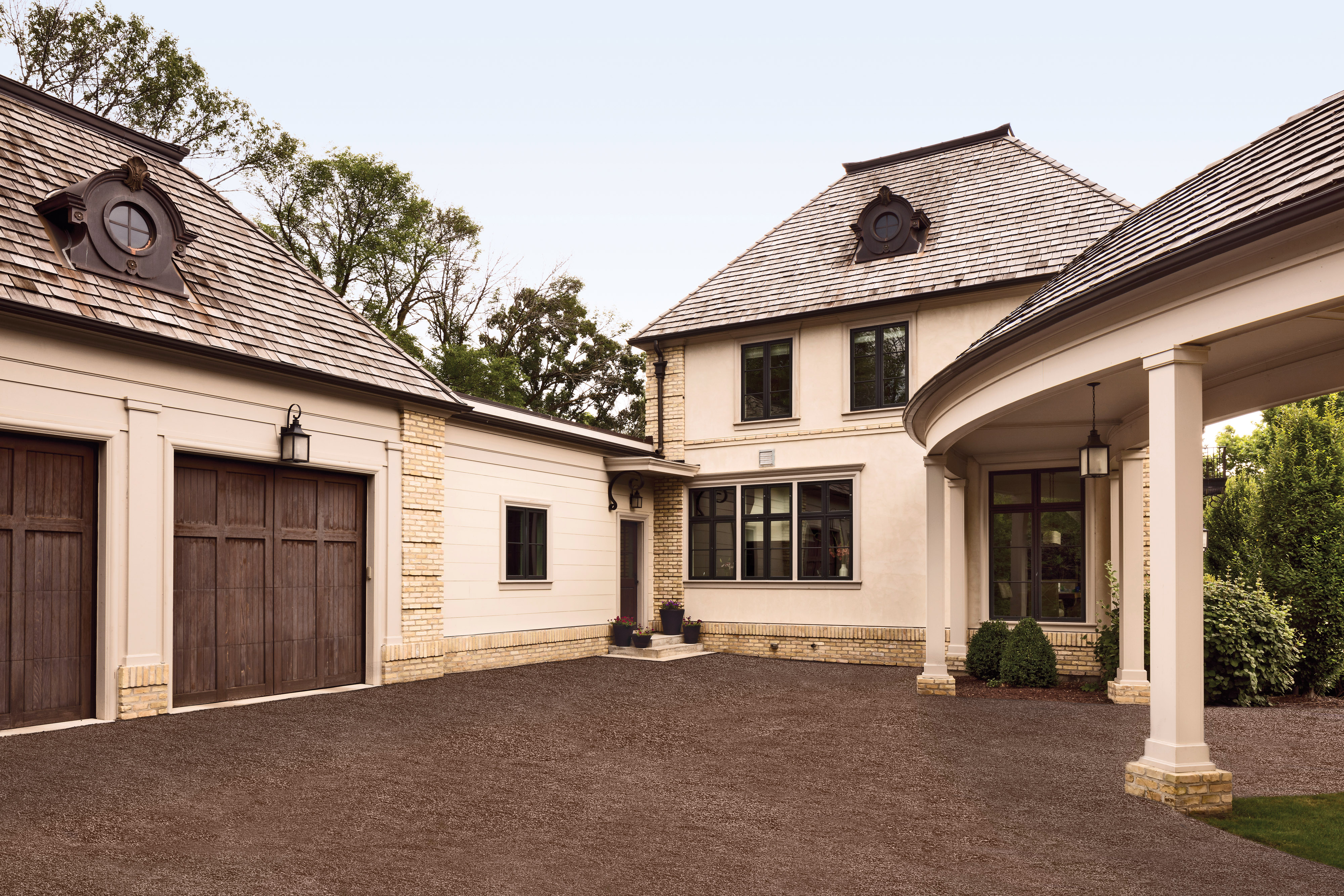 cream stucco home