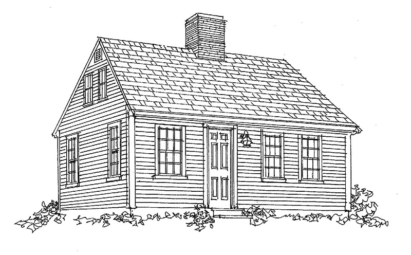 Three-quarter Cape Cod Design