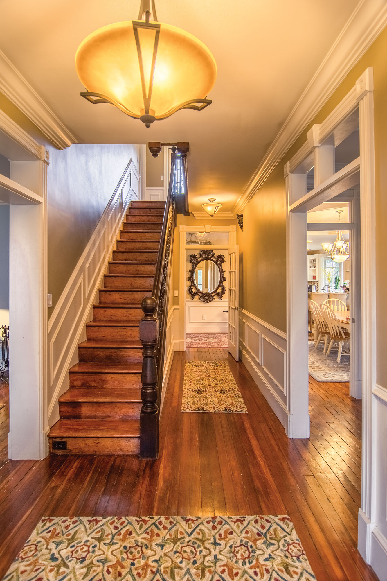 restored Victorian staircase