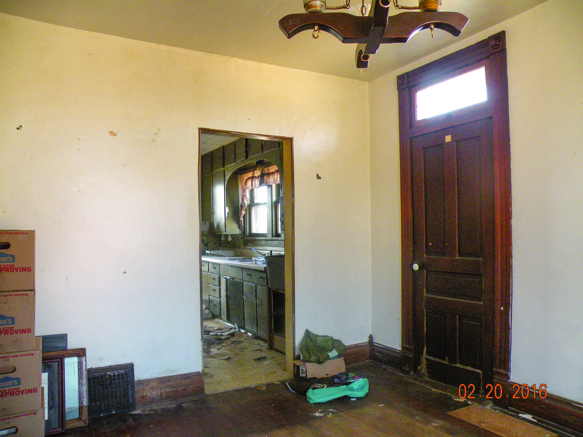 2. Before of the front door