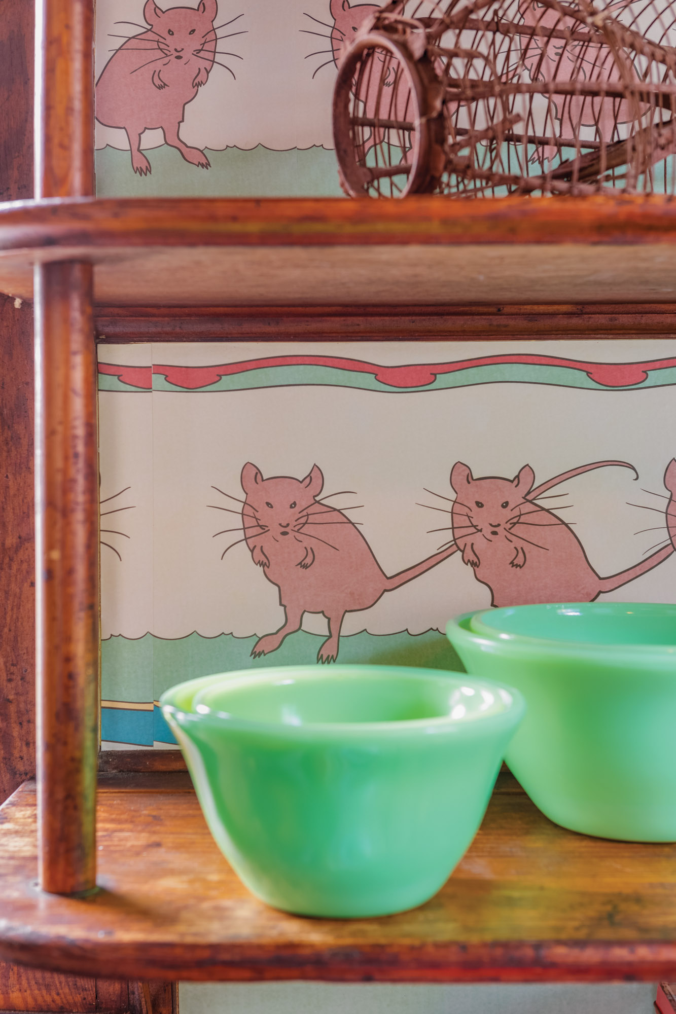 The 'Dancing Mice' paper is a new adaptation of a period design, by David Berman for Trustworth Studios.