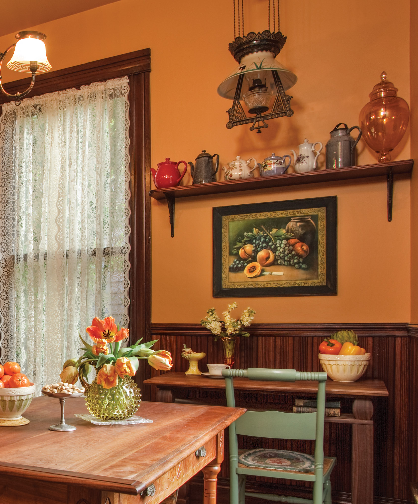 Victorian kitchen wainscoting
