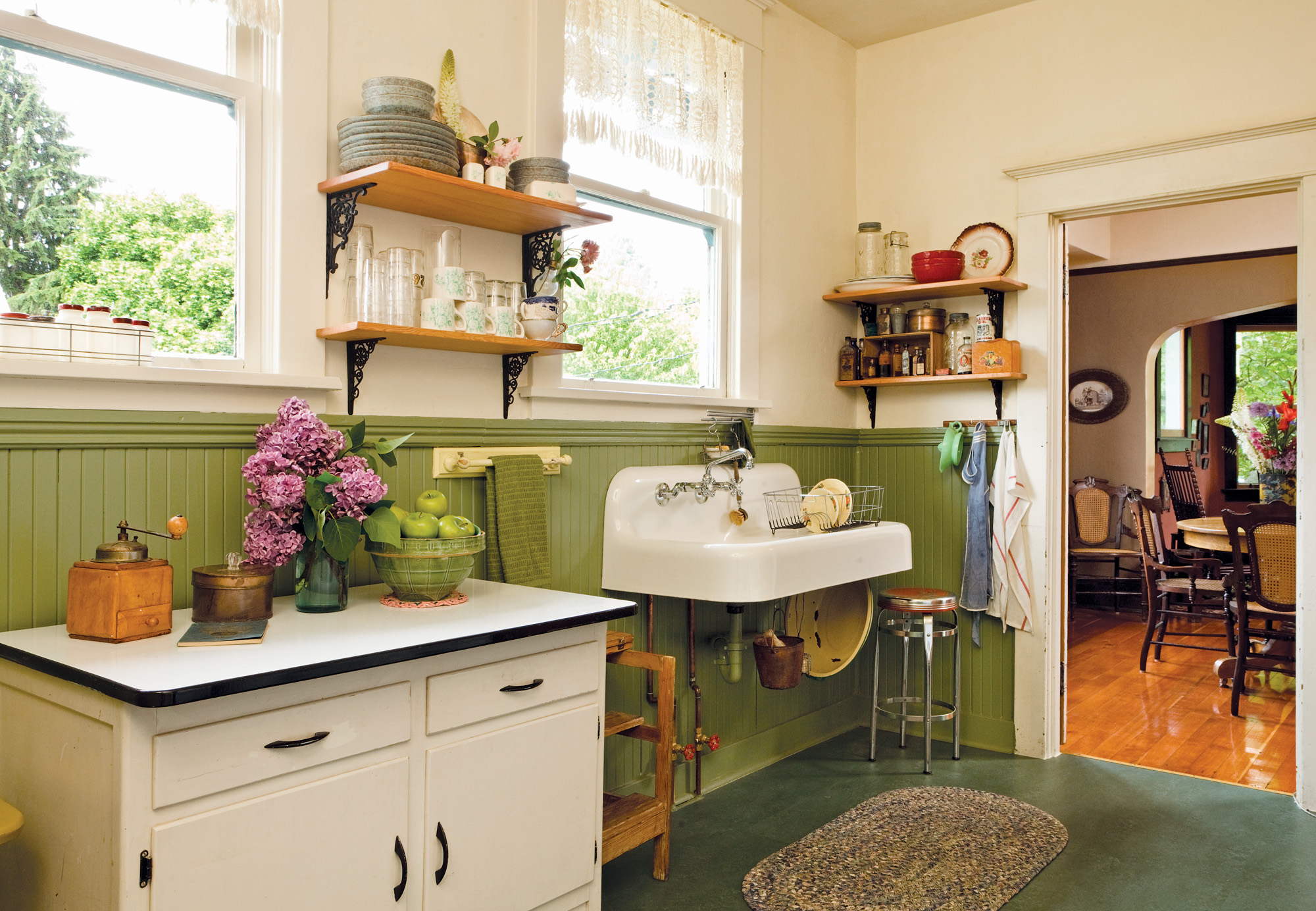 vintage wall-mounted sink