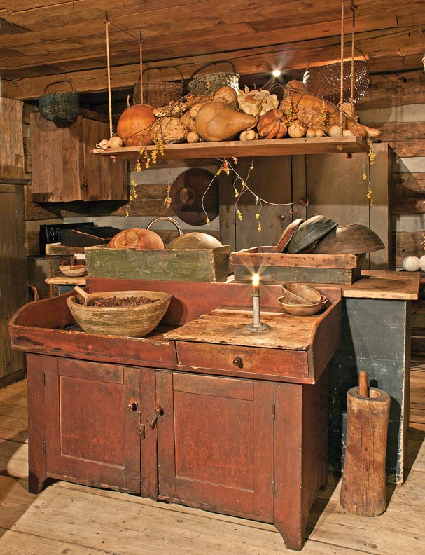 8 ways to design a kitchen for an early house old house for Antiques decoration
