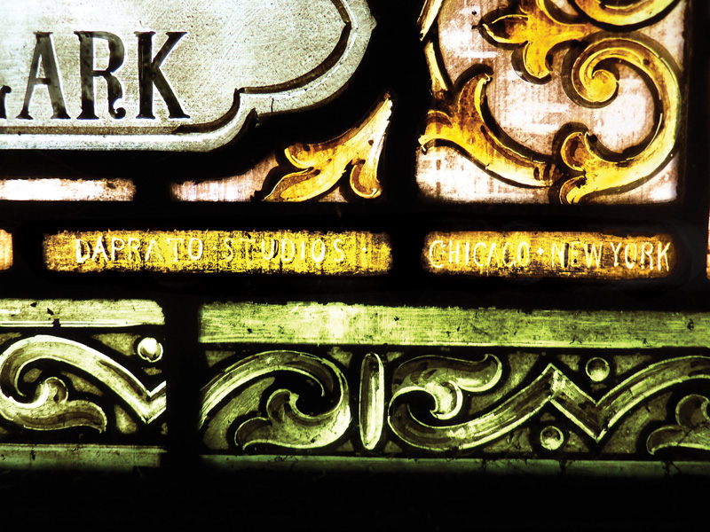 The studio name and location are visible on a corner of this 1890s panel.