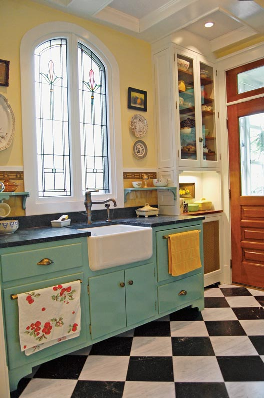 Photo Gallery Checkerboard Kitchen Floors Old House Journal Magazine