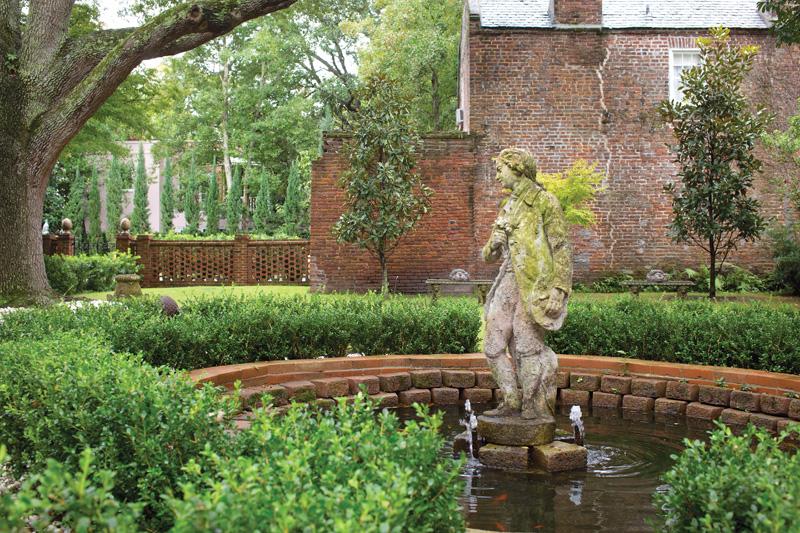A ca. 1800 statue from the della Porta garden in Umbria.