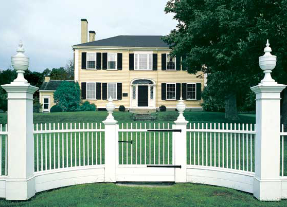 the best picket fences for old houses old house restoration products decorating. Black Bedroom Furniture Sets. Home Design Ideas