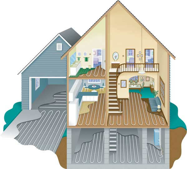 A look at radiant heating systems restoration design for Garage floor heating systems