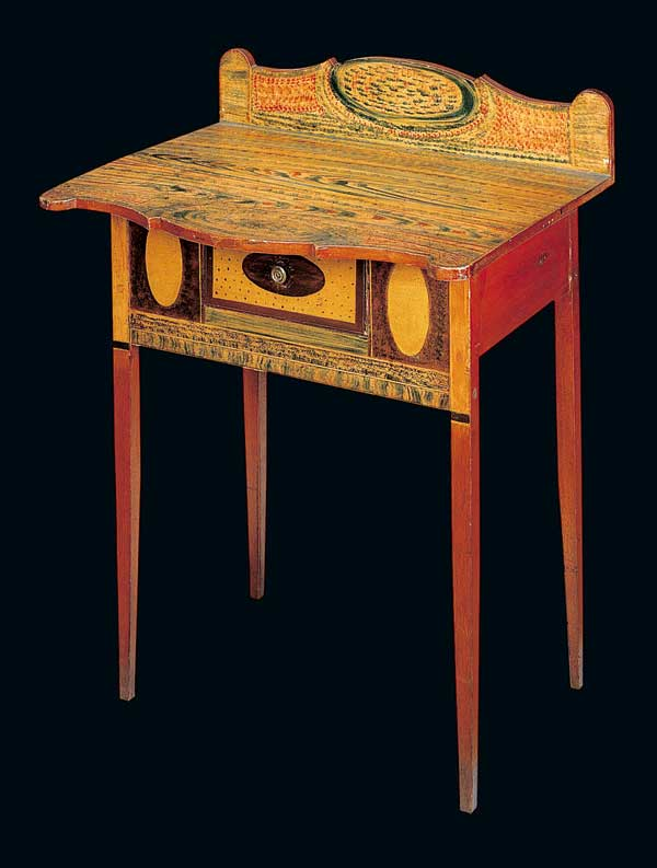 A Federal-painted sideboard table, whimsically painted, ca. 1810-1830. (Photo: John Bigelow Taylor)