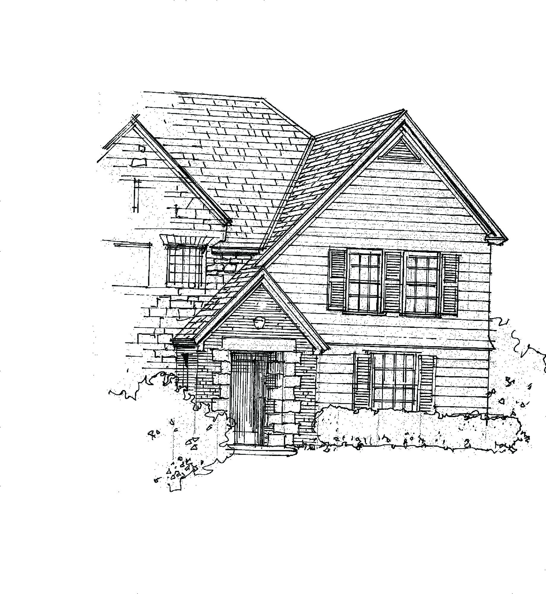 Steep Gabled Roofs: A typical cross-gabled builder's house plan, even wood-framed houses, could be tweaked toward Tudor with a steeper roof pitch and an articulated entry house or front door.