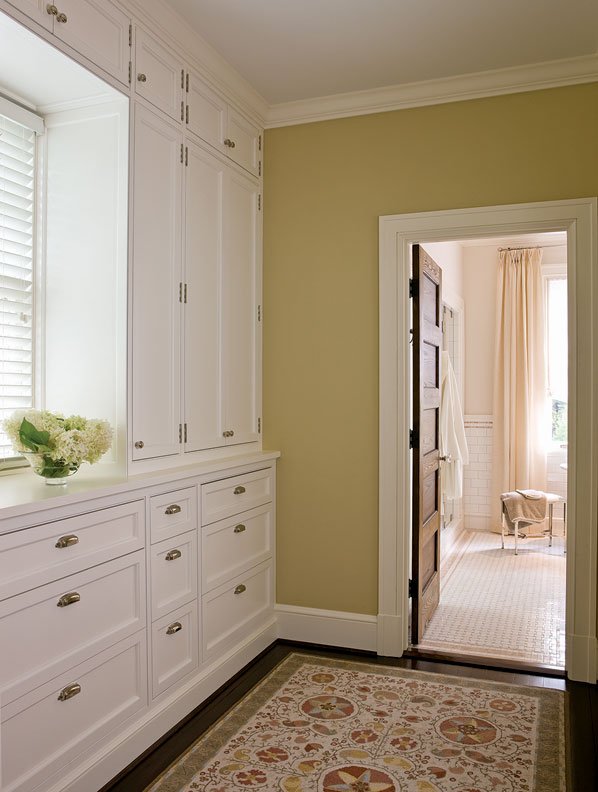 A new dressing room between the master bedroom and bathroom.
