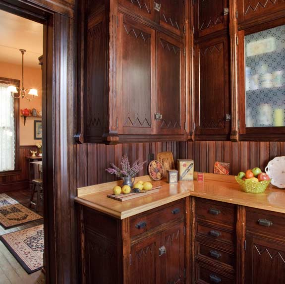 A new Victorian pantry, modeled after urban originals. Photo courtesy of Philip Clayton-Thompson.