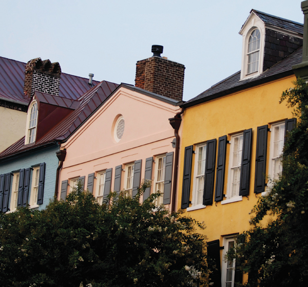 A picturesque alley in Charleston; part of the city's residential Rainbow Row.