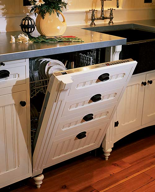 A practical way to conceal appliances. Photo: Scot Zimmerman.