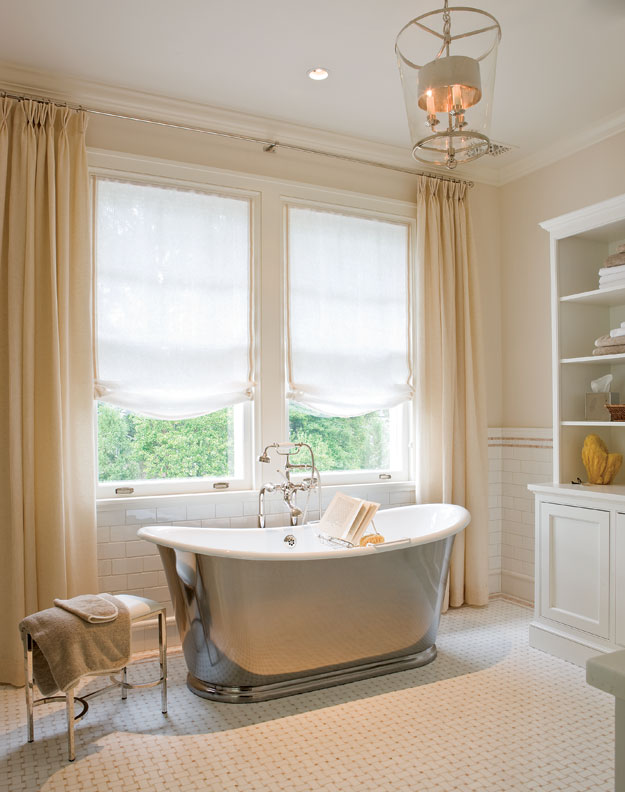 A relaxing master bathroom.
