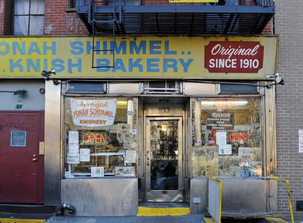 A surviving knish bakery on East Houston. Photo: Edward Addeo