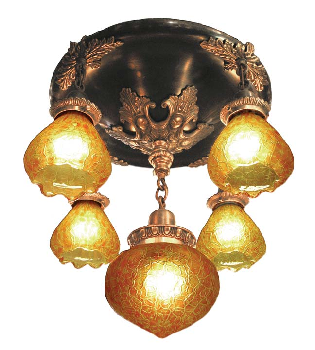 A vintage shower chandelier from Materials Unlimited
