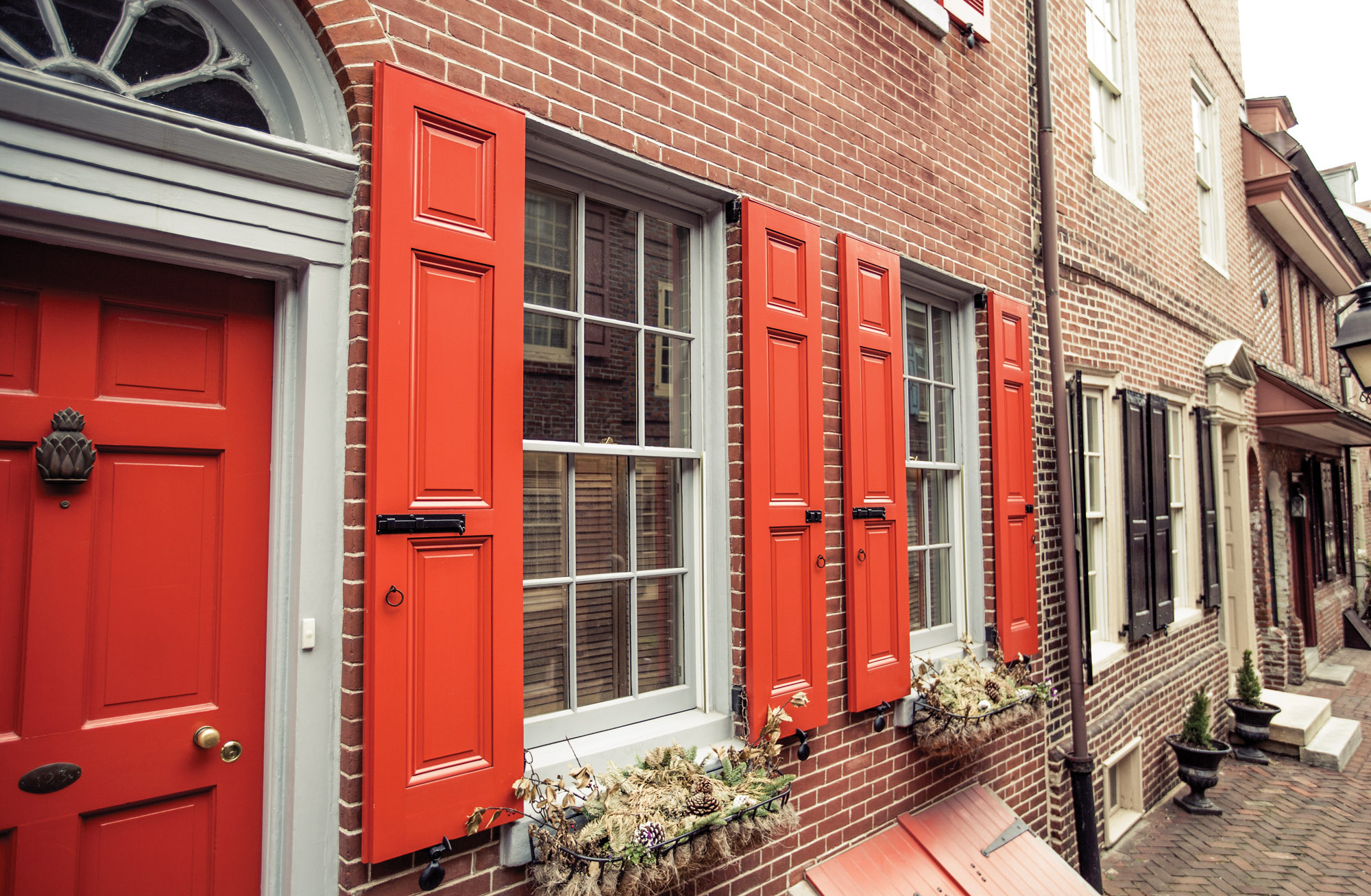 red shutters from Timberlane