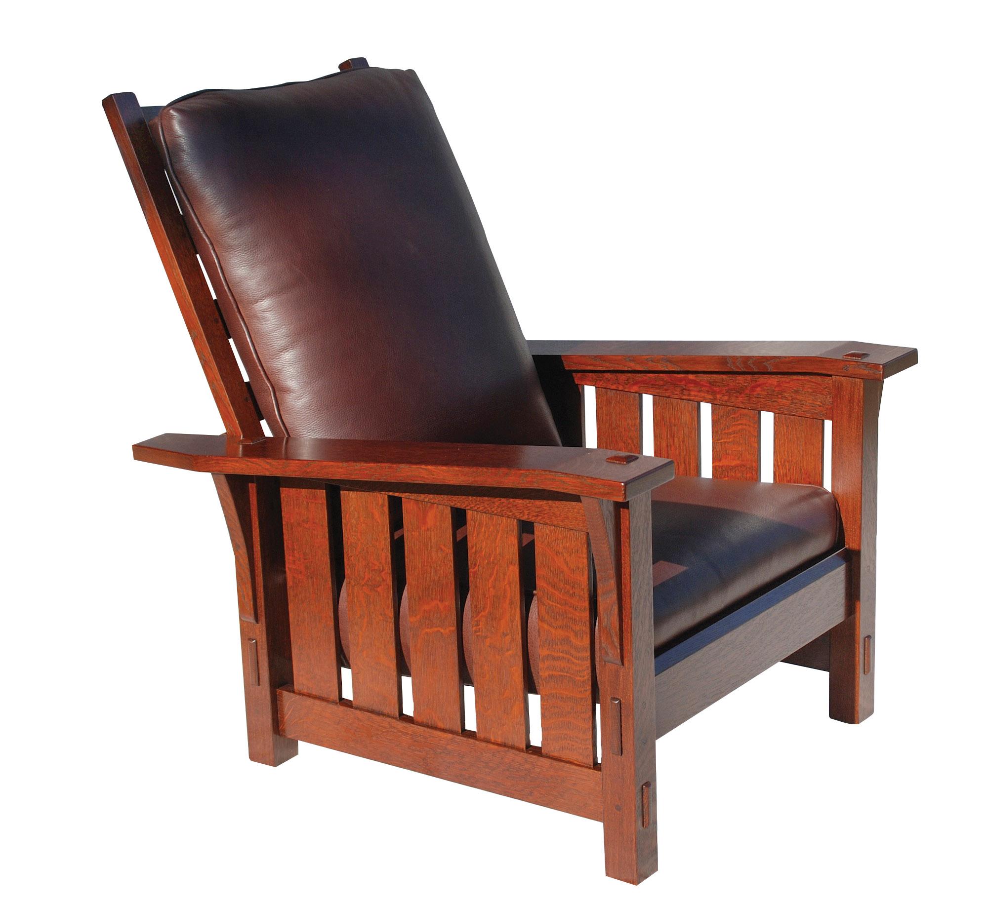 Slant Arm Reclining Morris chair