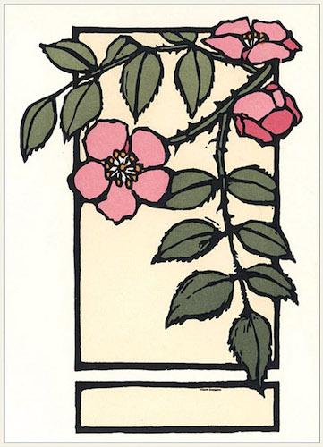'Wild Rose' cards by Yoshiko Yamamoto