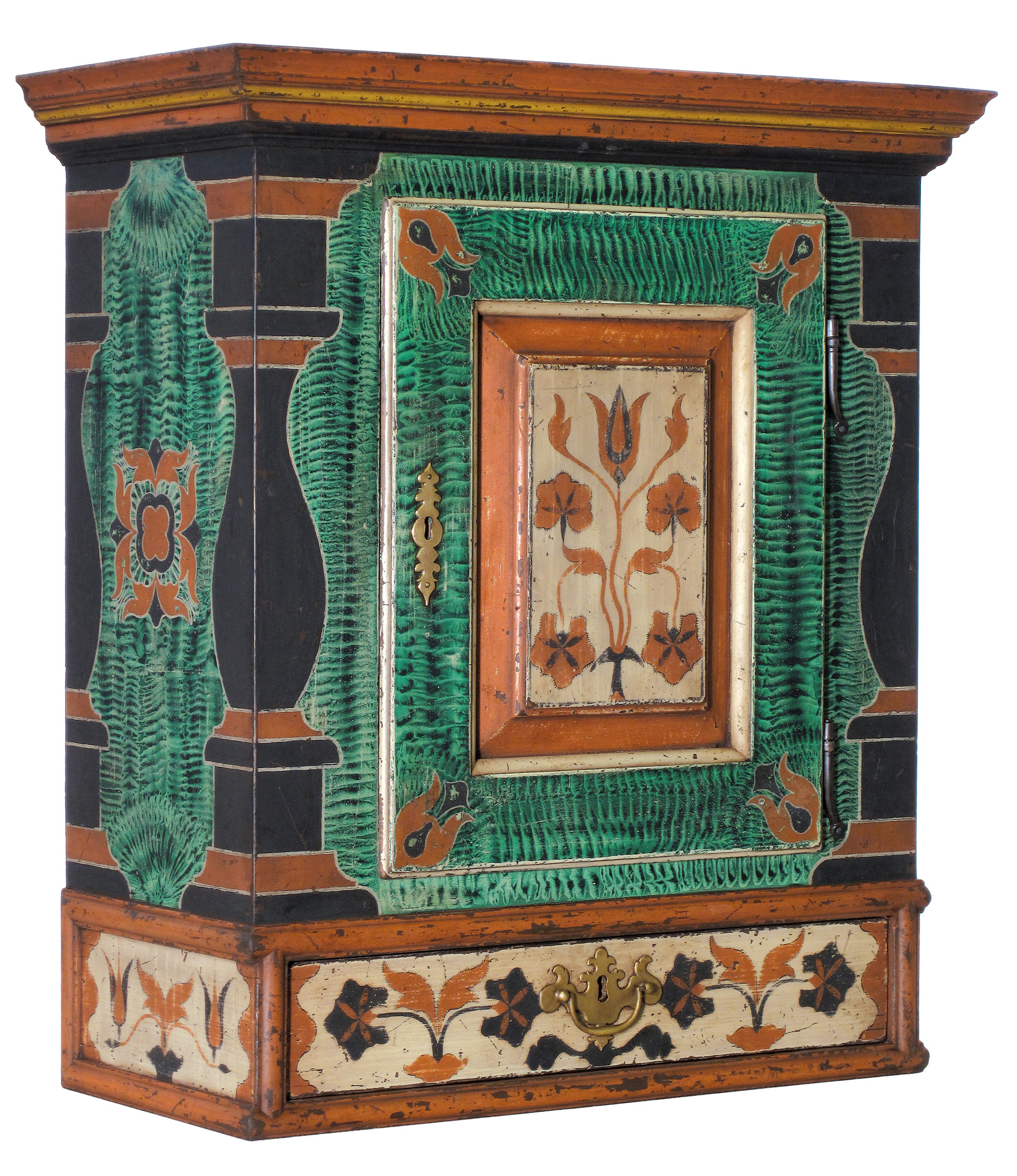 AdamMathews_fancy_painted wallcabinet_gn