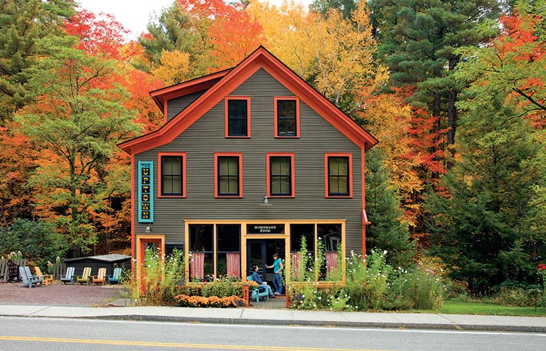 Lauren Parlin chose the vibrant paint colors for her new home and business in Hague, New York