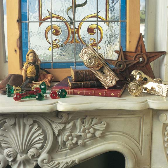 A vignette at Adkins Architectural Antiques in Houston