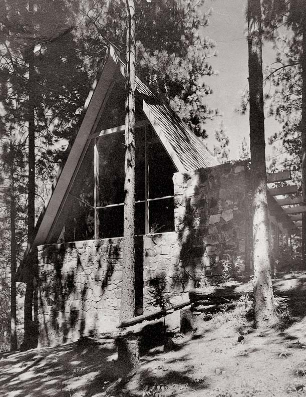 Architect Rudolph Schindler's 1934 Bennati House in Lake Arrowhead, California, is one of the first known all-roof vacation homes in the United States.