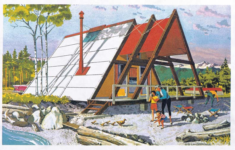 Plan-book A-frames like the Ranger from the Douglas Fir Plywood Association cannily promoted both a lifestyle and a building material.