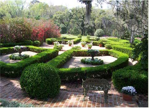 Afton Villa's formal boxwood parterre was inspired by the original owners' honeymoon tour of Europe. Photo courtesy of Afton Villa.