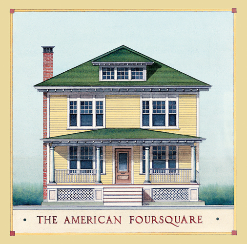 American Foursquare Architecture Interiors Restoration