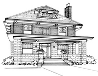 American Foursquare Architecture Interiors Old House
