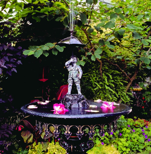 An antique Fiske fountain.