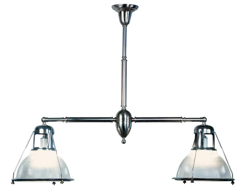 An antique Holophane billiard-style fixture from PW Vintage Lighting