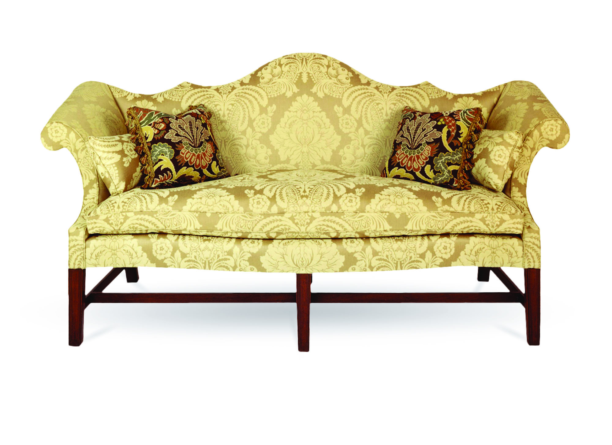 The 'DuPont' sofa from Andersen & Stauffer is an exact reproduction of one made in Philadelphia in the third quarter of the 18th century.
