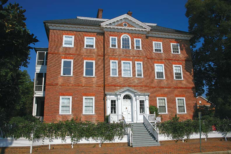 The Chase-Lloyd House, completed 1774 by William Buckland, is the only three-story high-style Georgian mansion in Annapolis.