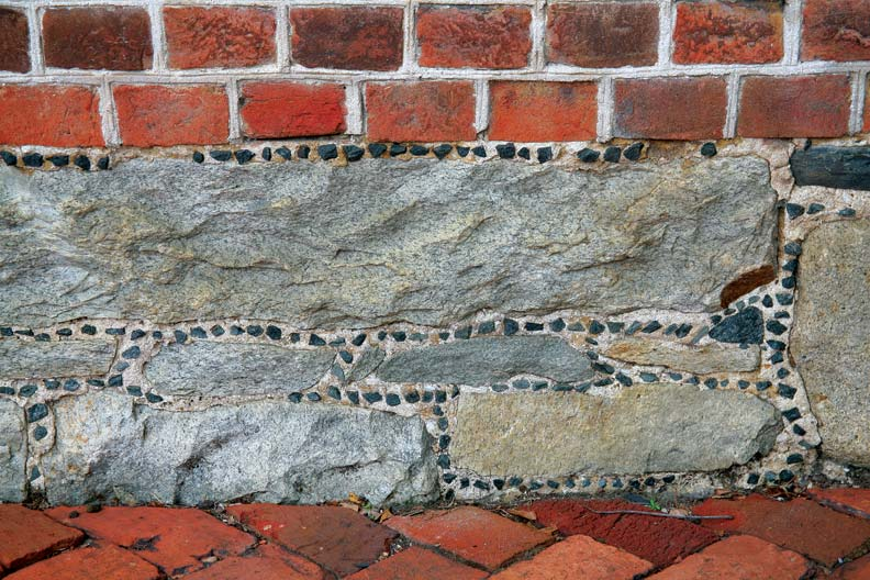 Galletting is a common masonry treatment used on brick houses in Annapolis.