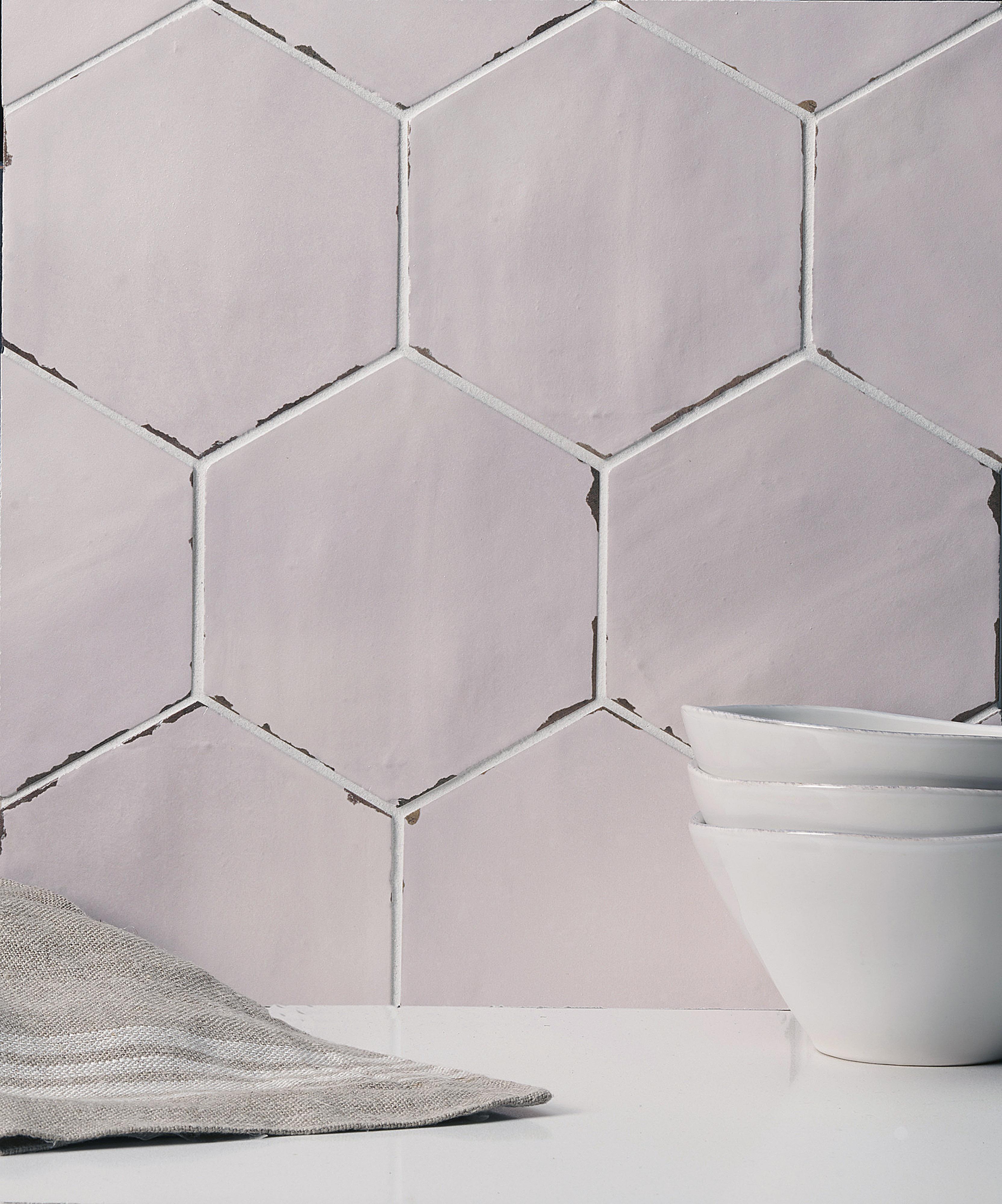 Arcilla Hex ceramic field tile