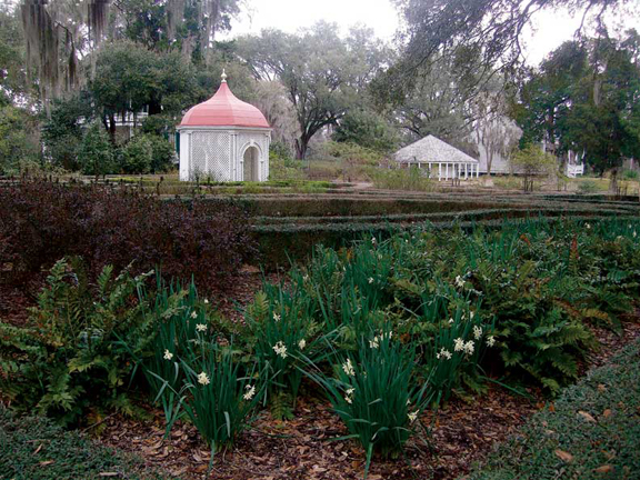 The gardens at Rosedown Plantation