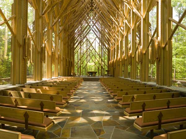 Anthony Chapel, a meditative wedding venue, at Garvan Woodland Gardens.