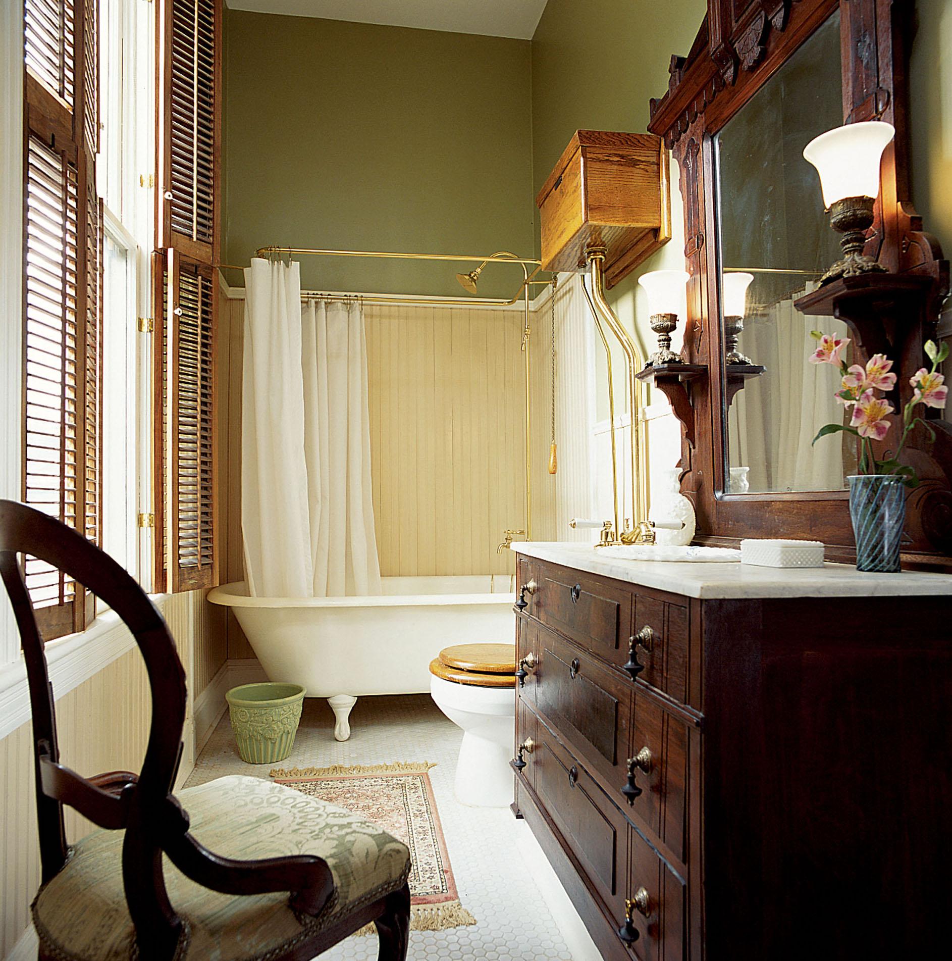 dresser repurposed as sink vanity